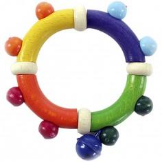 Hochet flexible multicolore