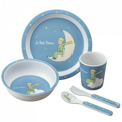 Coffret repas Le Petit Prince bleu (5 pièces)  par Petit Jour Paris
