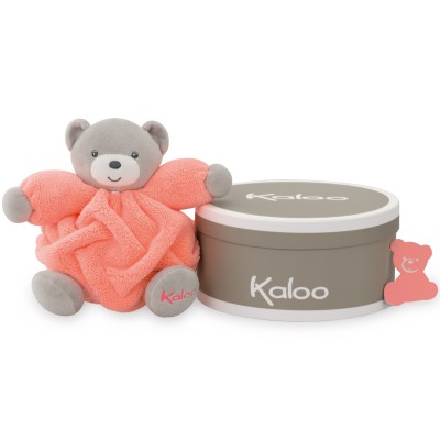 Coffret doudou boule Néon ours orange (18 cm) Kaloo