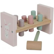 Jeu de marteau en bois Adventure pink  par Little Dutch