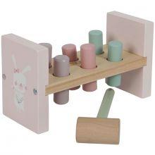 Jeu de marteau en bois Adventure pink  par Little Dutch