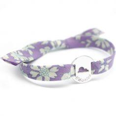Bracelet Liberty ruban nuage personnalisable (argent 925°)