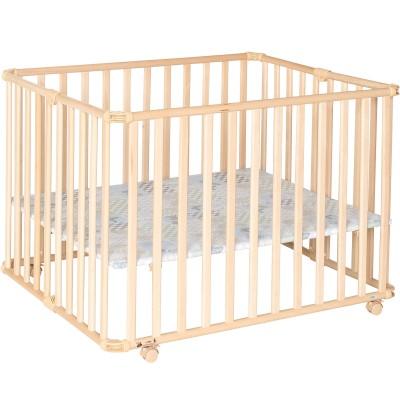 parc b b pliable am li naturel fond patchwork papillon 81. Black Bedroom Furniture Sets. Home Design Ideas