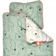 Parure de lit bébé housse + taie Contour vert (100 x 140)  par Done by Deer
