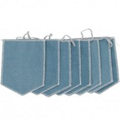 Guirlande de fanions bleu lagon
