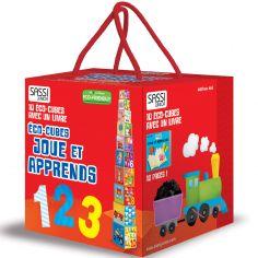 Livre et cubes empilables Joue et apprends