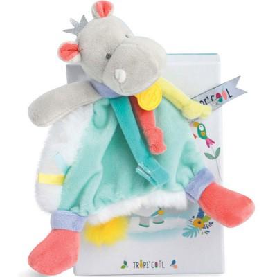 Doudou attache sucette Tropi'cool Hippopotame  par Doudou et Compagnie
