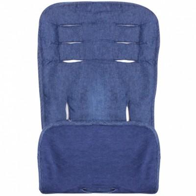 Assise de protection réversible poussette et siège auto bleu denim  par Minene