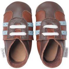 Chaussures de sports bébé cuir Soft soles marron (9-15 mois)