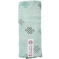 Maxi lange en coton Xandu vert d'eau (120 x 120 cm)