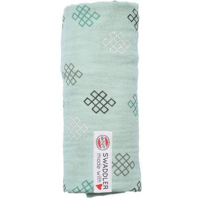 Maxi lange en coton Xandu vert d'eau (120 x 120 cm)  par Lodger
