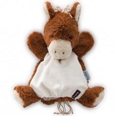 Doudou marionnette Les amis Mocha le cheval (30 cm)