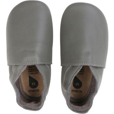 Chaussons bébé en cuir Soft soles Classic gris (3-9 mois)  par Bobux