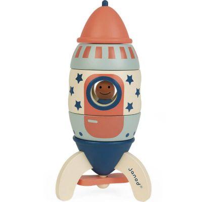 Jeu de construction magnétique Ma fusée Janod
