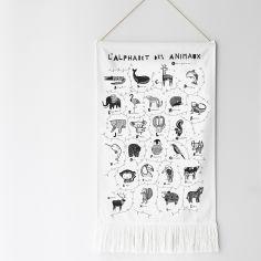 Décoration à suspendre L'alphabet des animaux