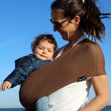 Porte bébé Easy Sling Wacotto marron cannelle (taille M)  par Lucky