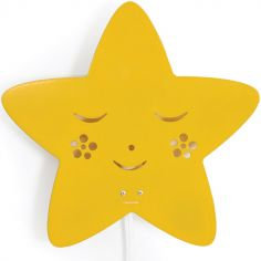 Applique murale étoile jaune