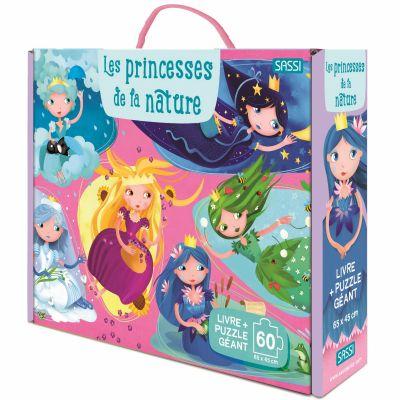 Livre + puzzle géant Les princesses de la nature (60 pièces) Sassi Junior