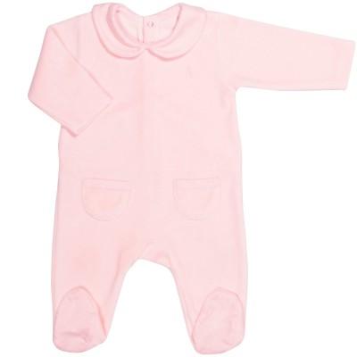 Grenouillère chaude Pink Bows (1 mois : 56 cm)  par Les Rêves d'Anaïs