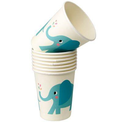 Gobelet en carton Elvis l'éléphant (8 pièces)  par REX