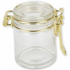 Bocal à dragées en verre doré (40 ml)