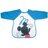 Bavoir tablier à manches Mickey bleu grafitti - Babycalin