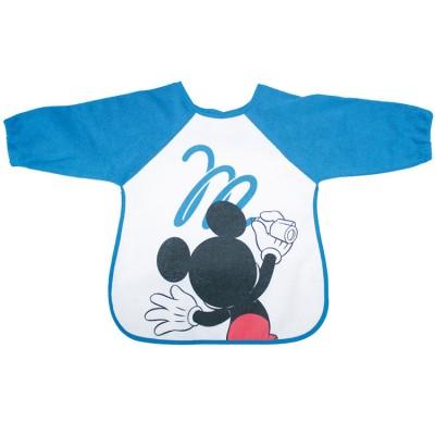 Bavoir tablier à manches Mickey bleu grafitti  par Babycalin