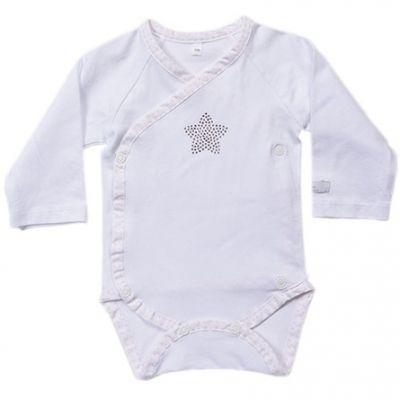 Body manches longues blanc Etoiles (6 mois)  par Nougatine