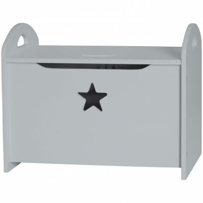 coffre jouets en bois star gris par kid 39 s concept. Black Bedroom Furniture Sets. Home Design Ideas