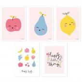 Lot de 5 posters Tutti frutti by Aless Baylis - Lilipinso
