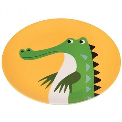Assiette plate Crocodile  par REX
