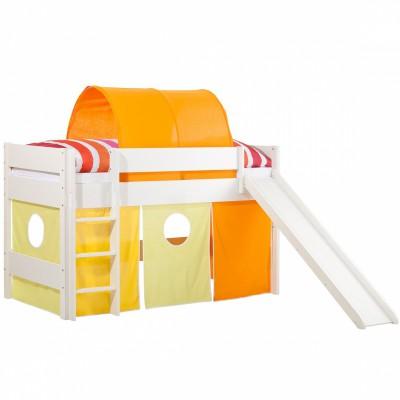 Tunnel en tissu pour lit mezzanine enfant orange geuther - Verlicht mezzanine pour enfant ...
