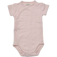 Body manches courtes rose clair (4-6 mois : 63-68 cm)