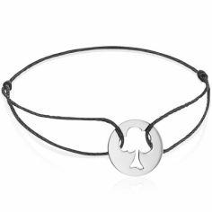 Bracelet cordon enfant Arbre de Vie (or blanc 750°)
