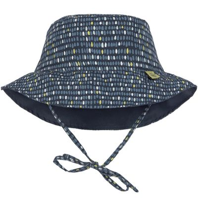 Chapeau anti-UV réversible Splash & Fun Pois bleu (0-6 mois)  par Lässig