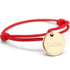Bracelet cordon enfant Kids médaille (plaqué or jaune)