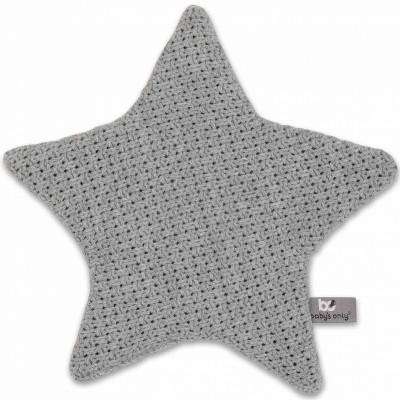 Doudou plat étoile Robust Maille gris (30 x 30 cm) Baby's Only