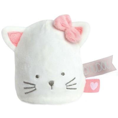 Doudou veilleuse chat vanille fraise Doudou et Compagnie