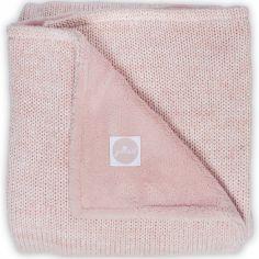 Couverture polaire Melange knit rose poudré (100 x 150 cm)