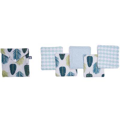 Lot de 5 lingettes lavables Jungle (10 x 10 cm)  par BB & Co