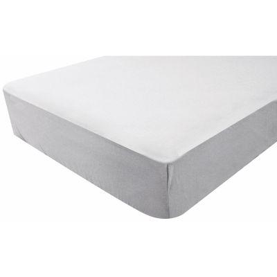 drap housse impermable gris perle 60 x 120 cm doux nid. Black Bedroom Furniture Sets. Home Design Ideas