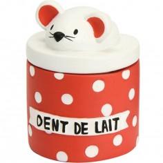 Boîte à dents BB moderne rouge