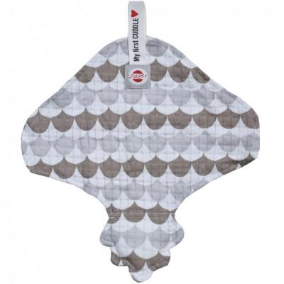 Doudou plat attache sucette Scandinavian gris et taupe Lodger