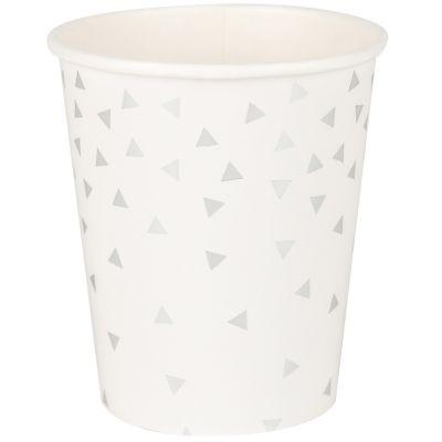 Gobelets triangles argentés (8 pièces)