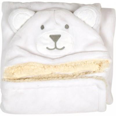 Nid d'ange ours blanc (90 x 95 cm) Doudou et Compagnie
