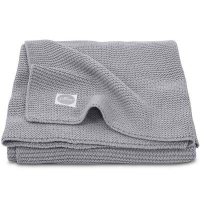 Couverture Basic knit grise (75 x 100 cm)