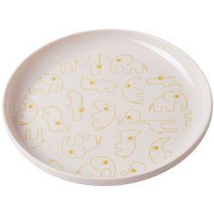 Assiette plate Yummy Contour rose et or