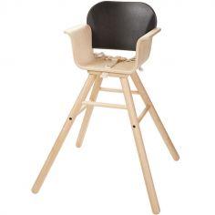 Chaise haute noire ajustable