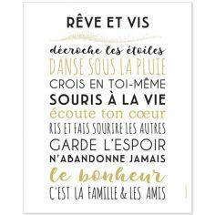 Affiche Rêve et vis (40 x 50 cm)