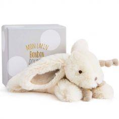 Coffret peluche lapin beige Bonbon (25 cm)